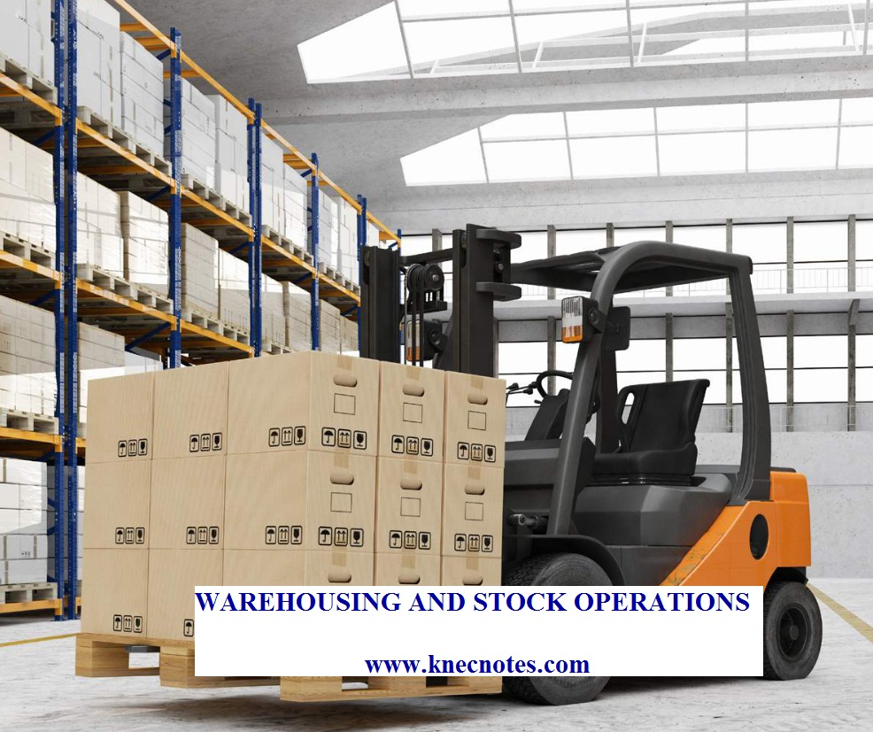 Warehousing and Stock control operations