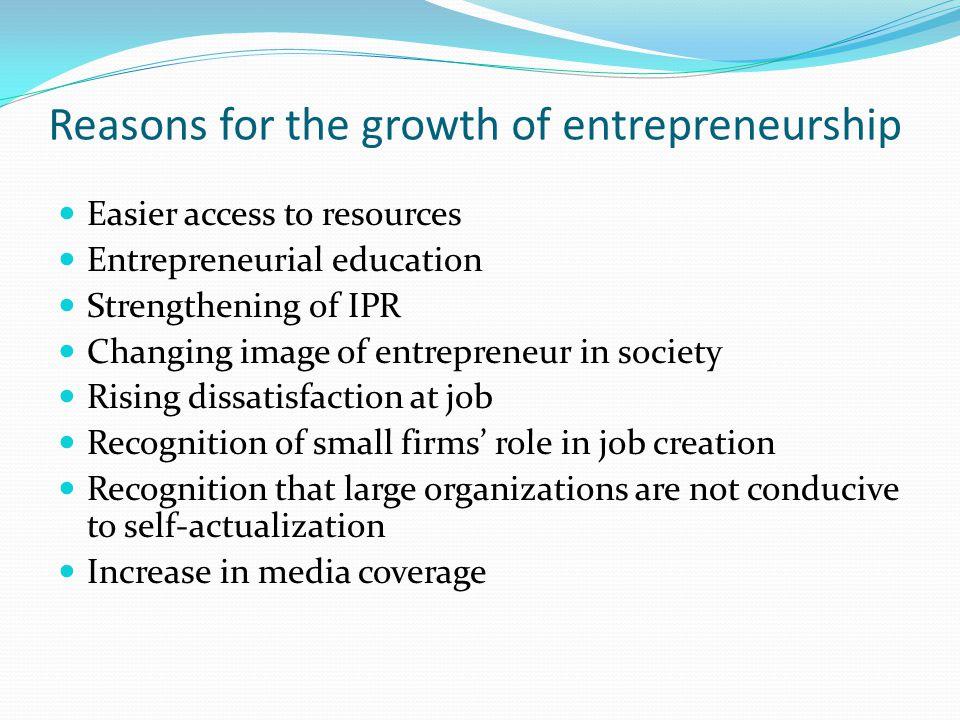 growth of entrepreneurship